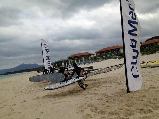 Club Med Kabira Beach: windsurfing Kabira beach