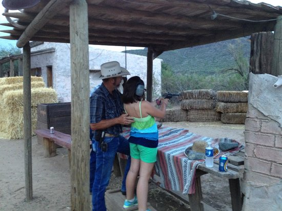 Western Destinations Canyon Creek Ranch - Tours: Our daughter getting lessons