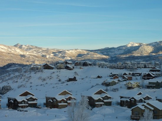 Legacy Vacation Resorts-Steamboat Hilltop: view of town from 1 br suite