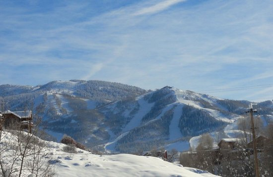 Legacy Vacation Resorts-Steamboat Hilltop: view of ski mountain from 2 br. suite