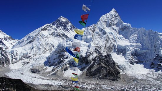 Khumbu, Nepal: A beutiful picture Mt Everest from top of Kalapathar