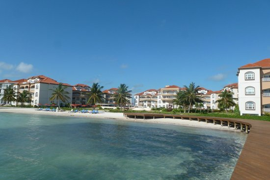 Grand Caribe Belize Resort and Condominiums: View from the dock