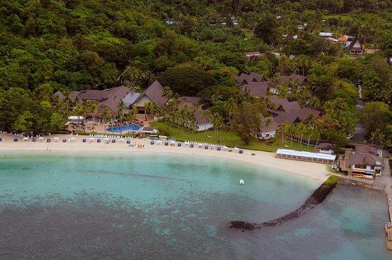 Palau Pacific Resort: Hotel / Resort aus dem Helikopter