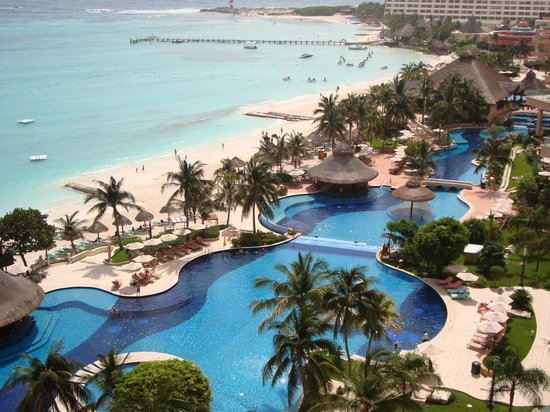Grand Fiesta Americana Coral Beach Cancun: View from 11th Floor Master Suite