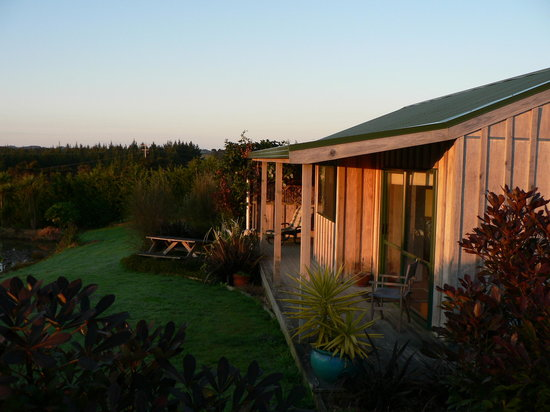 Mill Ridge Secluded Cottages: Morning sun on Ti Kouka Cottage