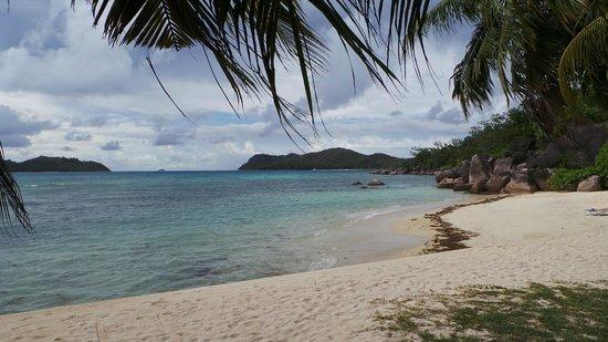 Domaine de La Reserve: vue de la plage de l'hôtel