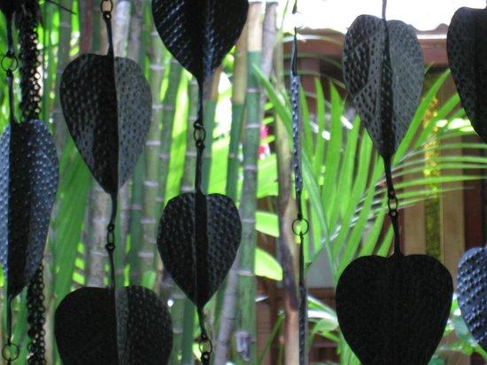 Sawasdee Village: Leaf design curtains on the veranda