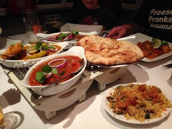 Riverside Indian Fusion: sample food