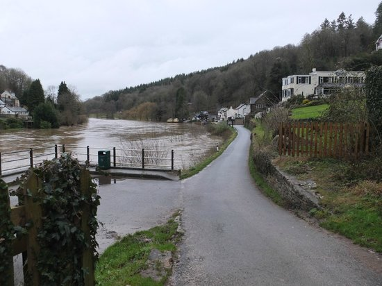 The Royal Lodge: Rivers a bit high this morning!!