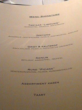 Ratata: The Signature menu