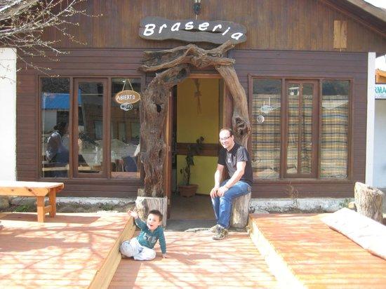 La Braseria: owner and his son