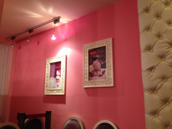 Nice Hello Kitty framed picture on pink wall - Hello Kitty Sweets ...