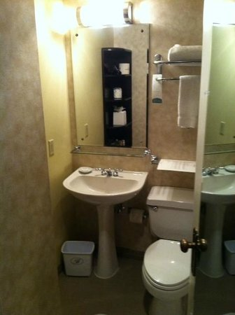 The Benson, a Coast Hotel: Bathroom-small but efficiant