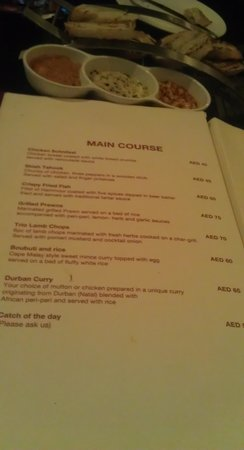 Citymax Hotels Bur Dubai: menu