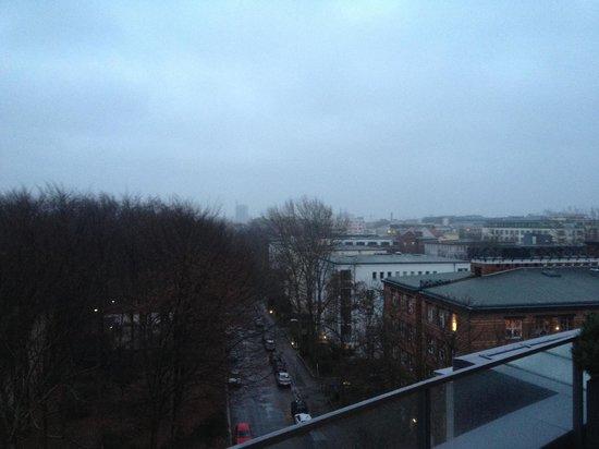 Das Stue: Morgendlicher Blick aus #506 von der riesigen Terrasse