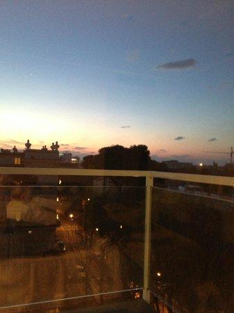 Biancamano : il primo raggio di sole dalla nostra camera