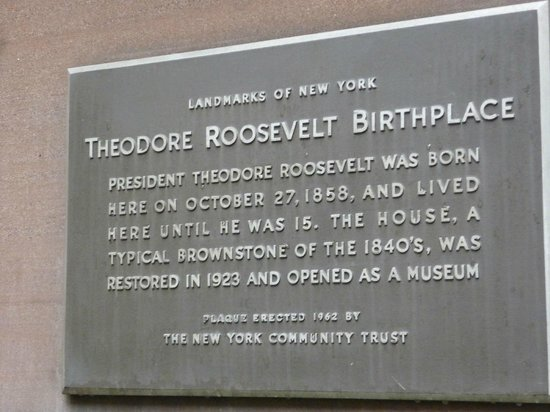 Theodore Roosevelt Birthplace National Historic Site: Plaque