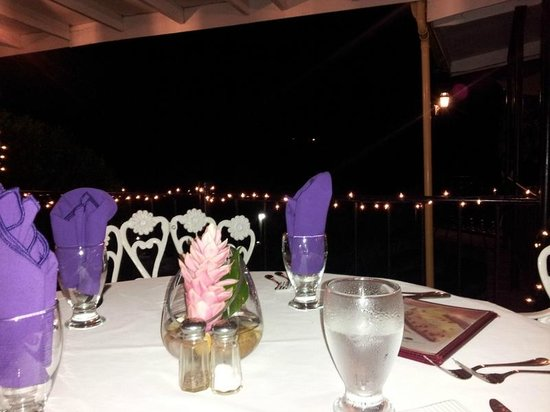 San Ignacio Resort Hotel: my table