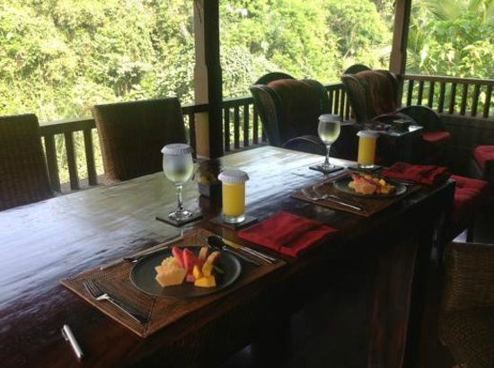 Bidadari Private Villas & Retreat: kenyeri breakfast (1st course!)