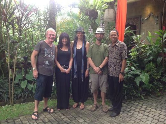 Bidadari Private Villas & Retreat: john, jackie, us and rana