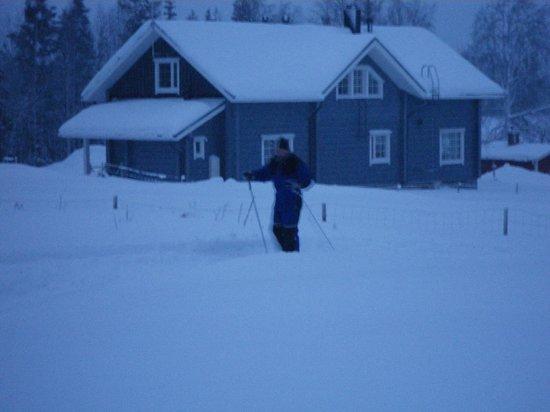 Hotel Hullu Poro - The Crazy Reindeer: Ski-ing - trial!!