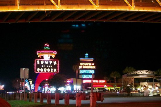 South of the Border night time lights