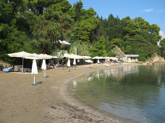 Corfu Holiday Palace: Hotel Beach and bar