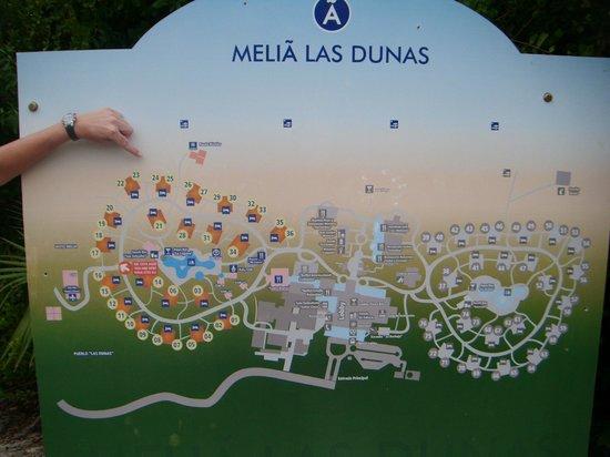 hotel map picture of melia las dunas cayo santa maria. Black Bedroom Furniture Sets. Home Design Ideas