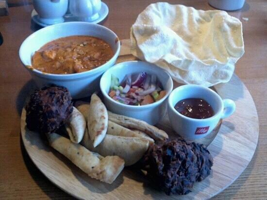 The Testwood: Indian platter yum yum