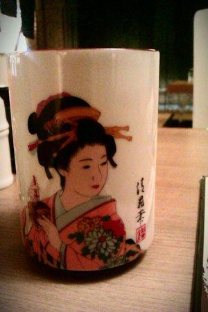Kiku-Zakura Japanese Restaurant: A never ending supply of green tea in pretty cups..