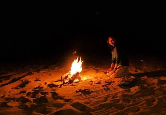 White Desert: by the campfire