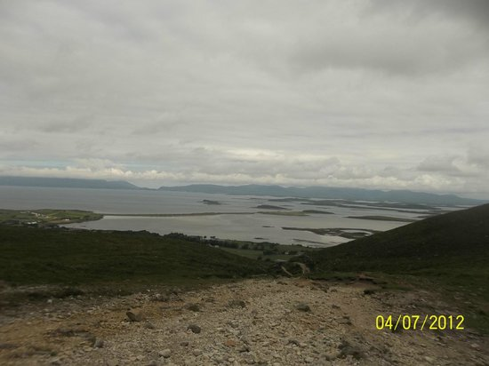 Croagh Patrick: The views from the beginning of the climb