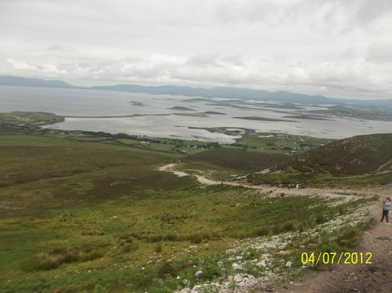 Croagh Patrick: View from the start of the climb