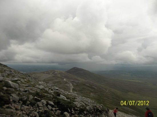 Croagh Patrick: View from near the top