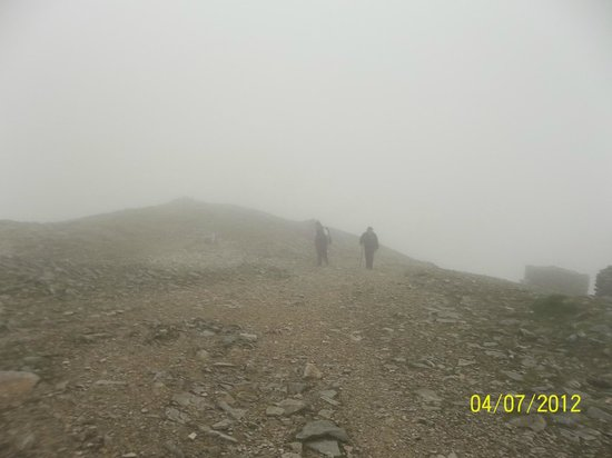 Croagh Patrick: The top, foggy!!