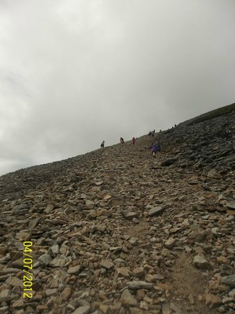 Croagh Patrick: The final part of the ascent - the toughest bit