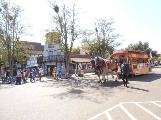 Solvang Trolley & Carriage : The Solvang Trolley Parading on Danish Days