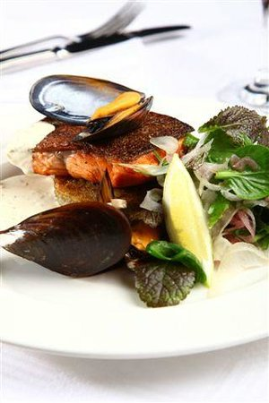 Cafe BonBon: Grilled Trout with Mussle Veloute