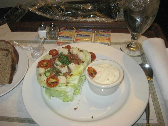 Doubletree by Hilton Chicago Magnificent Mile: Wedge salad from room service