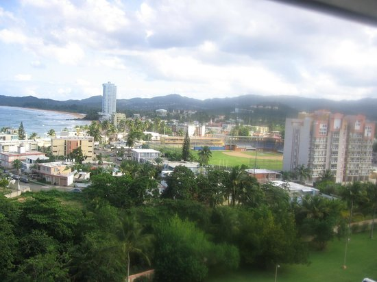 Playa Azul: The town of Luquillo from the hallway of Bldg 3