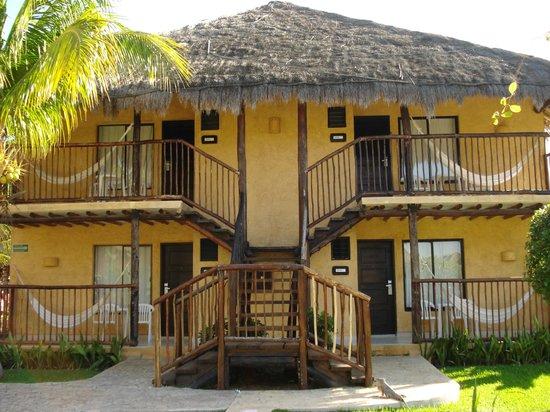 Allegro Cozumel: Chaque côté d'édifice a 4 chambres.