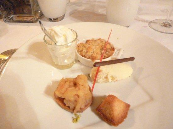 Chateau de Beaulieu: Dessert: la pomme et la poire