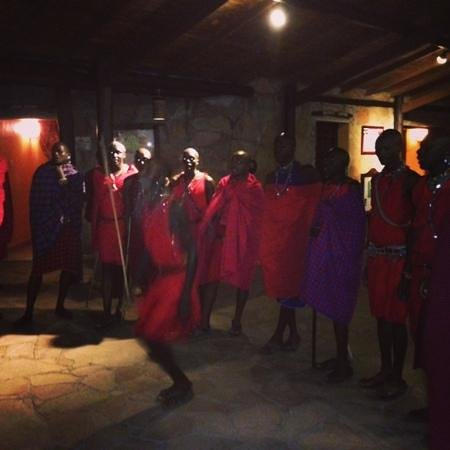 Sarova Mara Game Camp: maasai traditional dance arranged by the lodge
