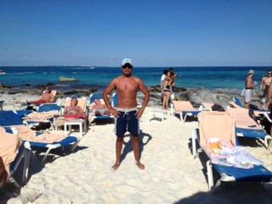 Hotel Riu Cancun: En la playa del hotel riu