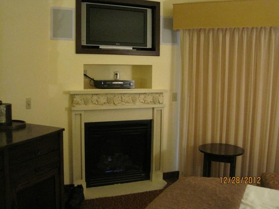 BEST WESTERN Dry Creek Inn: fireplace and flat panel tv