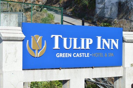 Tulip Inn Green Castle: Sign Board On Terrace