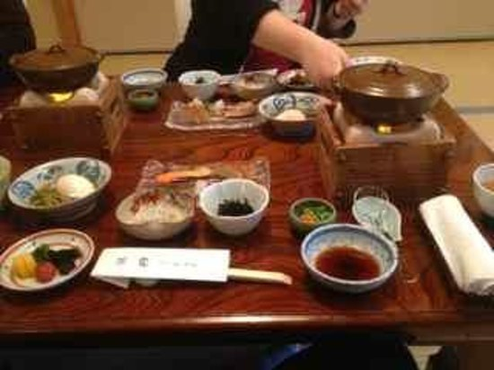 Ryokan Tazuru: Traditional Japanese Breakfast