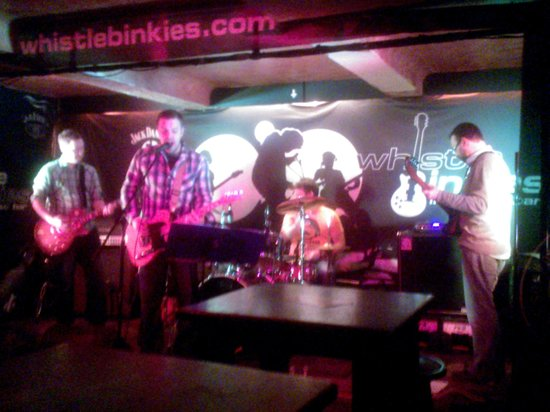 Whistle Binkies: One of the bands I saw when I went in. Sorry it's a bit blurry!