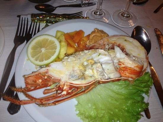 Auramar Beach Resort: lobster for new year dinner.