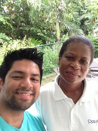 Ocean Villa Grand Anse: with the caretaker juliette
